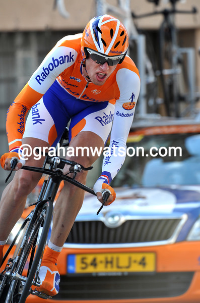 STEF CLEMENT IN THE PROLOGUE OF THE 2009 DAUPHINE-LIBERE