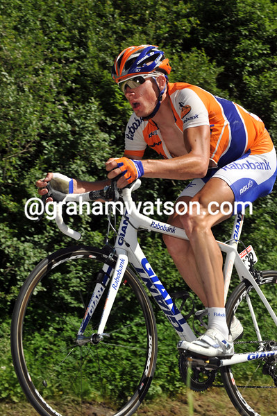 STEF CLEMENT ON STAGE SEVEN OF THE 2009 DAUPHINE-LIBERE