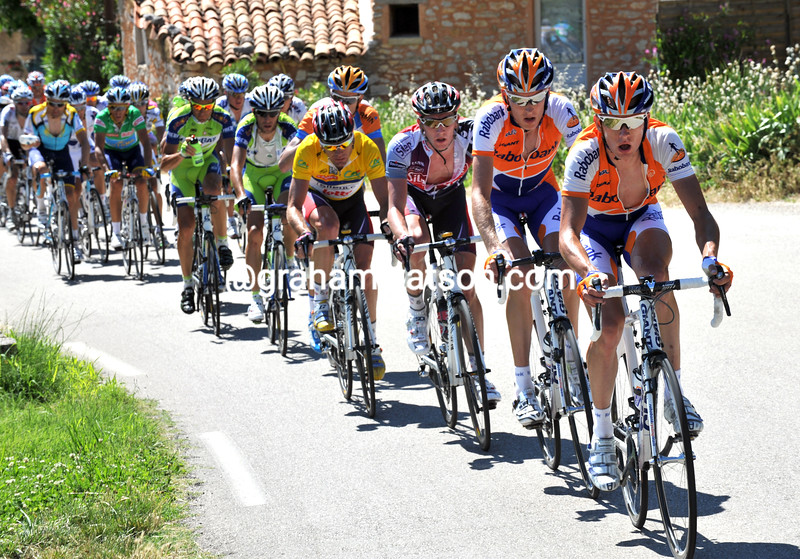 STEF CLEMENT CHASES IN THE 2009 DAUPHINE-LIBERE