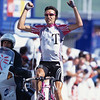 Giuseppe Guerini wins a stage to Alpe d'Huez in the 1999 Tour de France