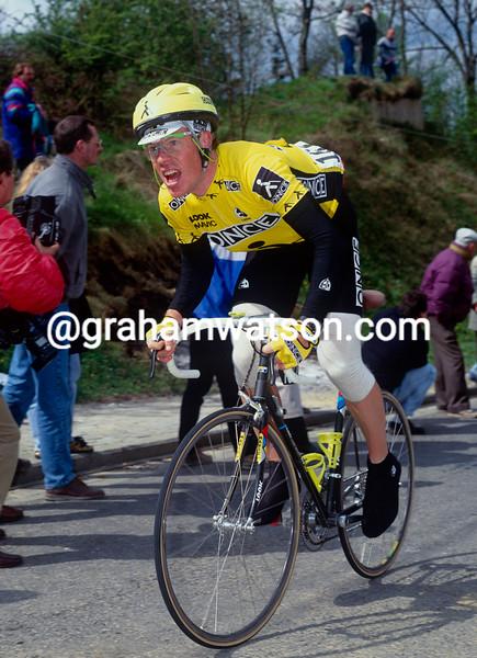 Stephen Hodge in the 1990 Fleche Wallonne