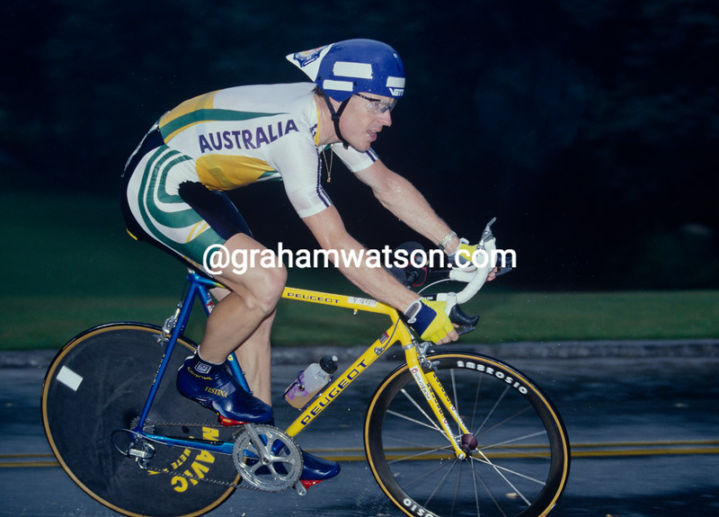 Stephen Hodge in the mens time trial in the 1996 Olympic Games