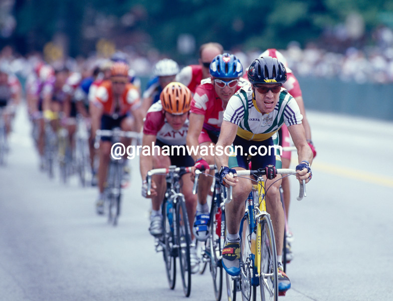 Stephen Hodge in the mens road race in the 1996 Olympic Games