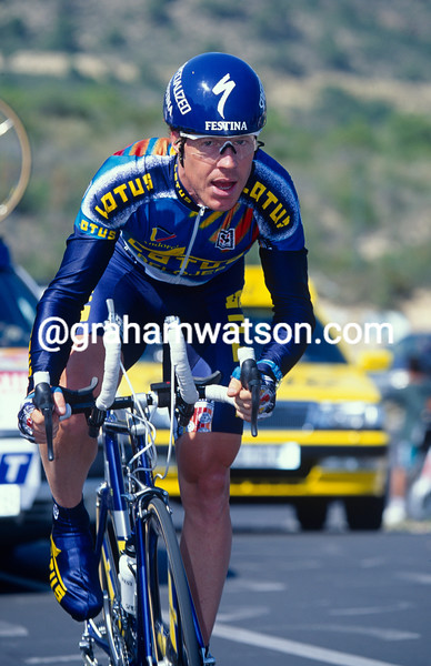 Stephen Hodge in the 1996 Tour of Spain