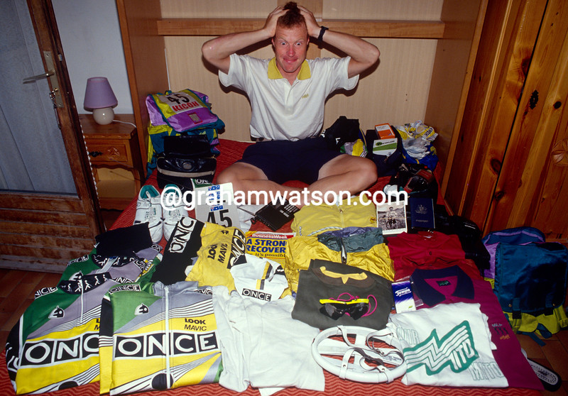 Stephen Hodge in the 1992 Tour de France