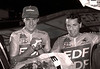 TONY DOYLE AND STEPHEN ROCHE IN THE GRENOBLE SIX-DAY RACE