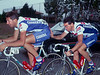 Andrea Tafi and Stephen Roche in the 1993 Tour of Spain