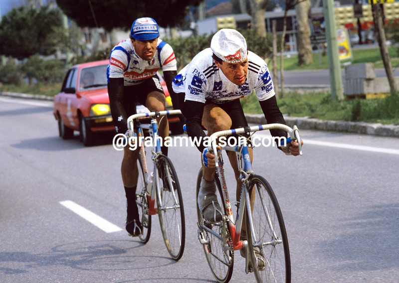 Stephen Roche in the 1986 Paris-Nice