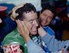 Stephen Roche realises he has won in the 1987 World Championship