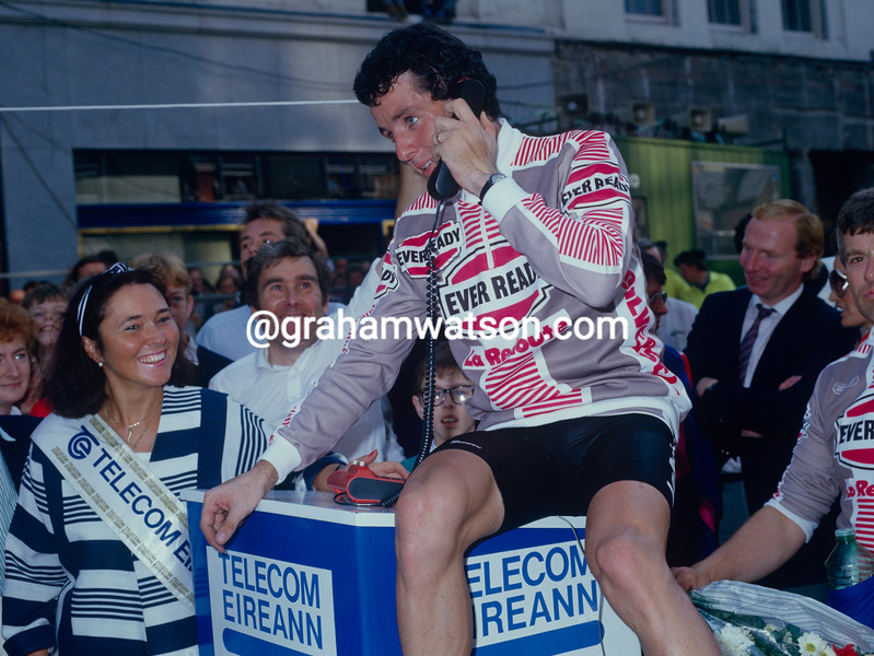 Sean Kelly and Stephen Roche in the 1986 Nissan Classic