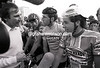 phil liggett with sean kelly and stephen roche