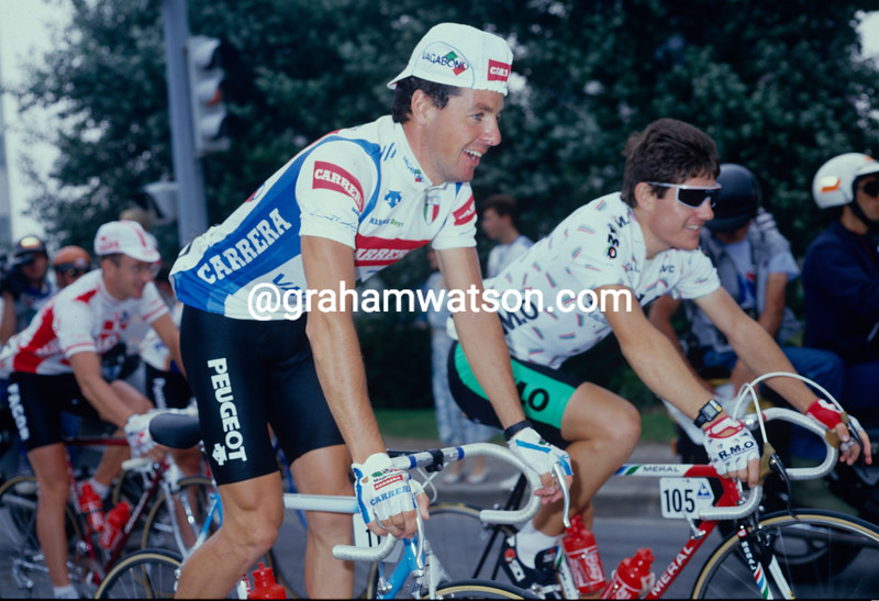 Stephen Roche and Paul Kimmage in the 1987 Tour de France