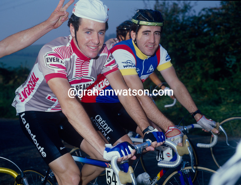 Stephen Roche and Raphael Kimmage in the 1987 Nissan Classic