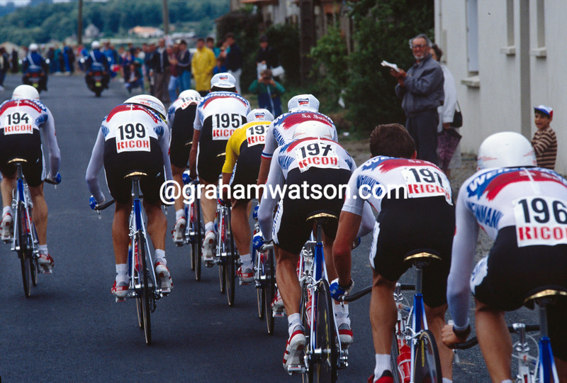 Steve Bauer in the 1988 Tour de France