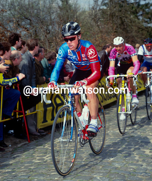 Steve Bauer in the 1991 Tour of Flanders