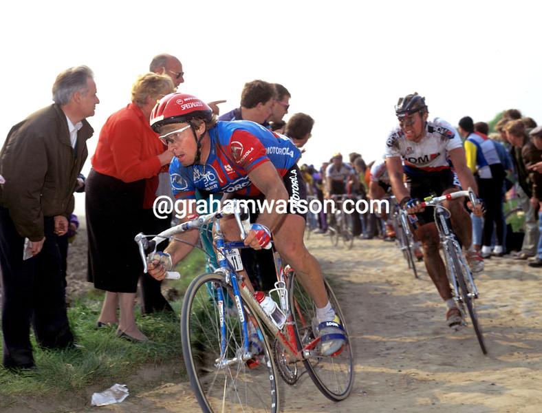 Steve Bauer in the 1992 Paris-Roubaix