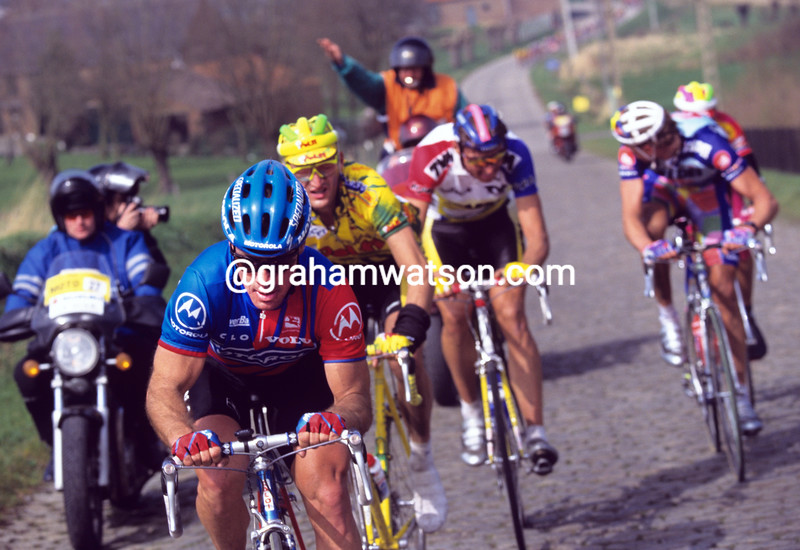 Steve Bauer in the 1992 Tour of Flanders