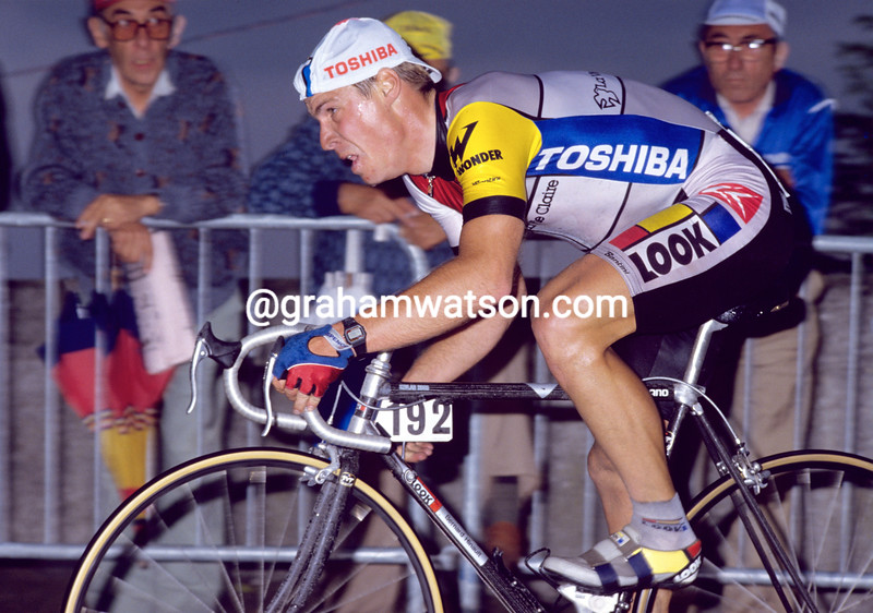 Steve Bauer in the 1987 Giro d'Italia