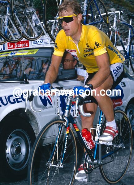 Steve Bauer in the 1988 Tour de France