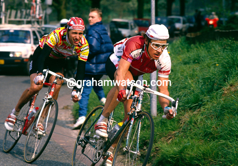 Steve Bauer in the 1988 Amstel Gold Race