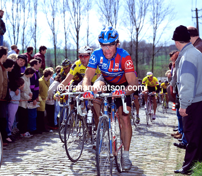 Steve Bauer in the 1993 Tour of Flanders