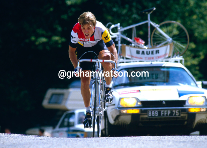 Steve Bauer in the 1985 Tour de France