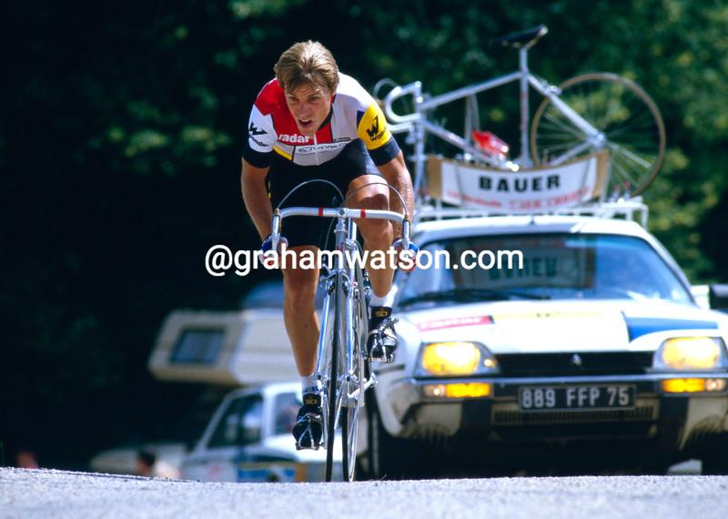 Steve Bauer in the 1985 Tour de France