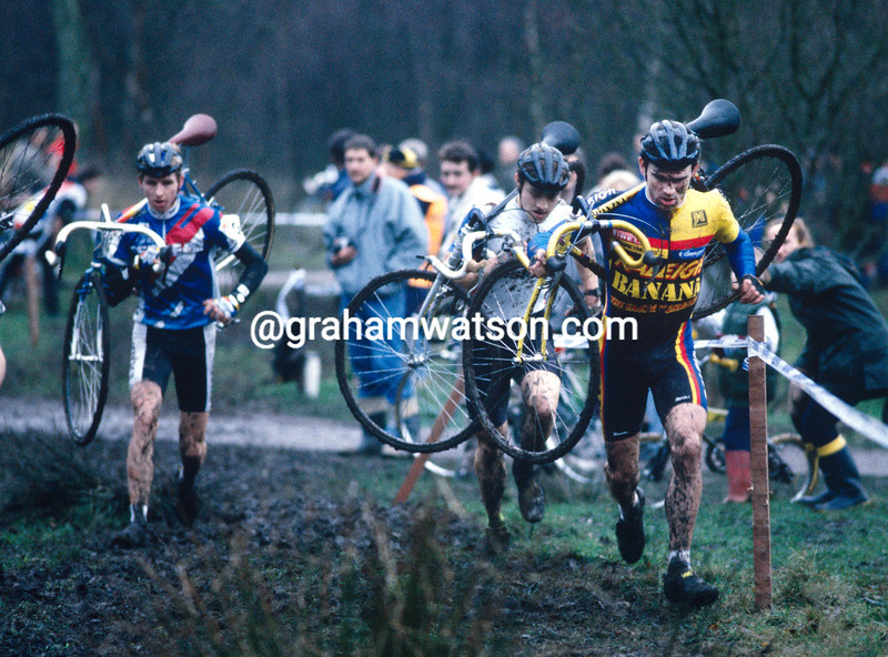 Steve Douce in a British cyclo-cross event in 1986