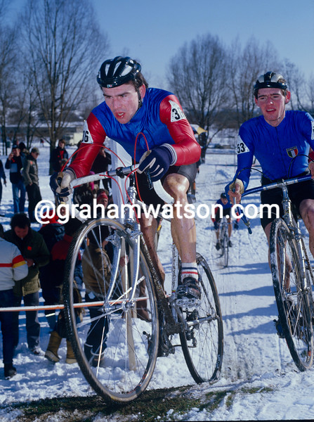 Steve Douce at the 1992 World Cyclo-Cross Championship
