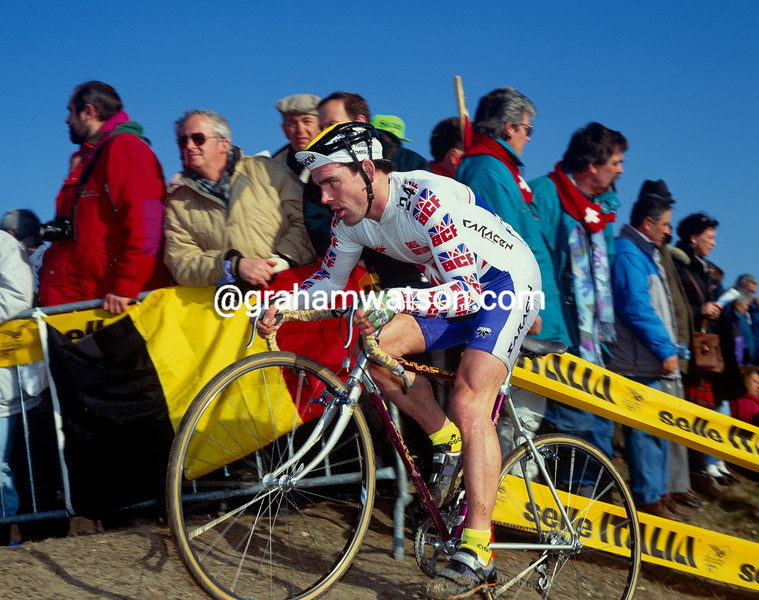 Steve Douce at the 1993 World Cyclo-Cross championships