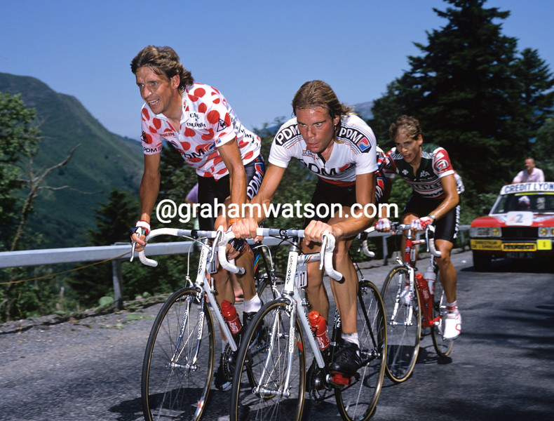 Steven Rooks and Gert-Jan Theunisse in the 1988 Tour de France