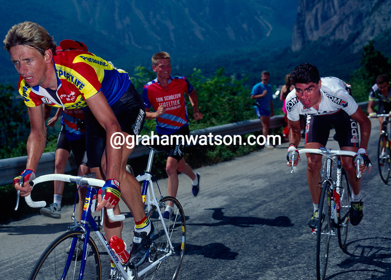 Steven Rooks and raul Alcala in the 1991 Tour de France