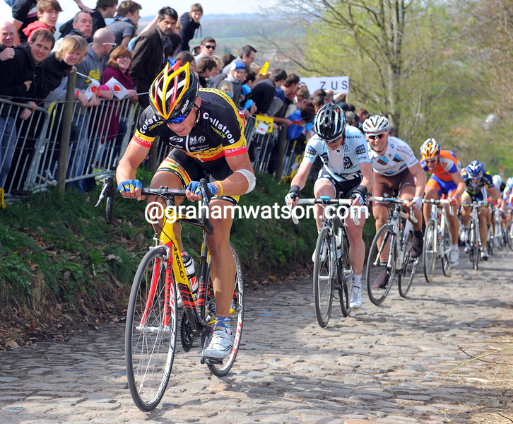 STIJN DEVOLDER IN THE 2011 TOUR OF FLANDERS