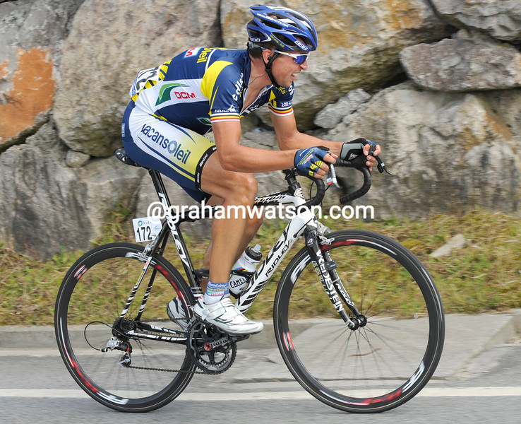 STIJN DEVOLDER IN THE 2011 CLASICA SAN SEBASTIAN
