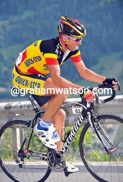 STIJN DEVOLDER ON STAGE SIX OF THE 2008 TOUR DE SUISSE