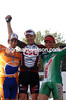 STUART O'GRADY, JUAN ANTONIO FLECHA AND STEFFAN WESEMANN AFTER PARIS-ROUBAIX