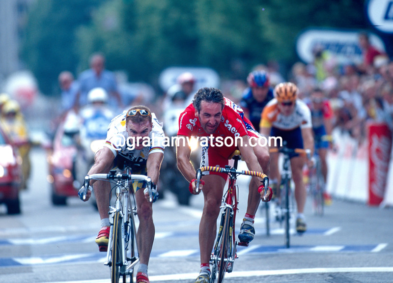 Stuart O'Grady wins a stage of the 1997 Tour de France