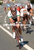 STUART O'GRADY MAKES AN ESCAPE IN THE ELITE MEN'S ROAD RACE ON THE CIRCUIT IN SALZBURG