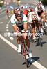 STUART O'GRADY MAKES AN ESCAPE IN THE ELITE MEN'S ROAD RACE ON THE CIRCUIT IN SALZBURG