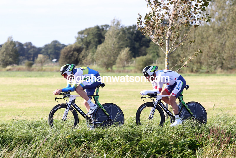 Luke Durbridge and Svein Tuft in the 2012 Duo Normand time trial