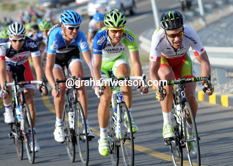 Svein Tuft on stage two of the 2012 Tour of Oman