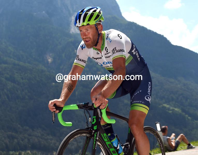Svein Tuft on stage fifteen of the 2016 Giro d'Italia