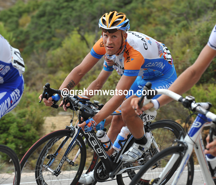 SVEIN TUFT ON STAGE EIGHT OF THE 2009 TOUR OF SPAIN