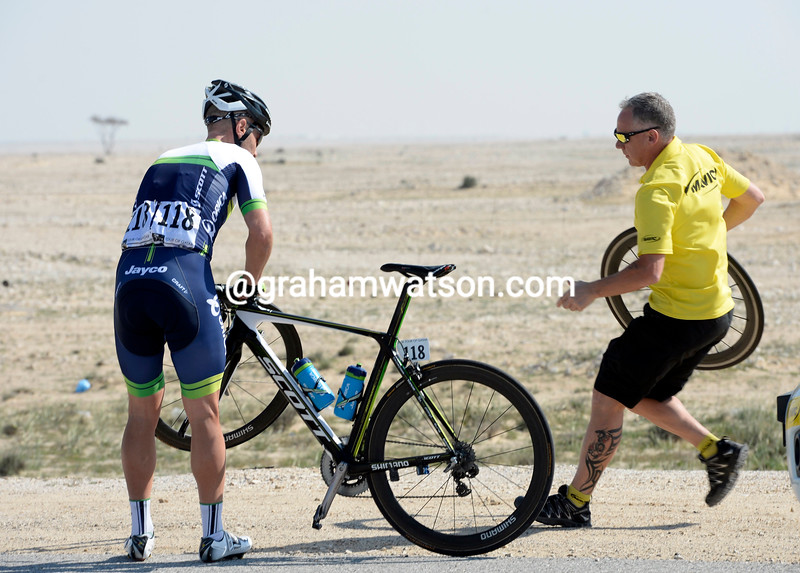 Svein Tuft on stage two of the 2014 Tour of Qatar