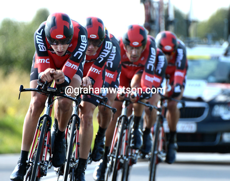 Taylor Phinney leads BMC in the 2012 mens team time trial championships