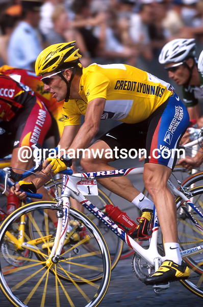 Lance Armstrong in the 2000 Tour de France