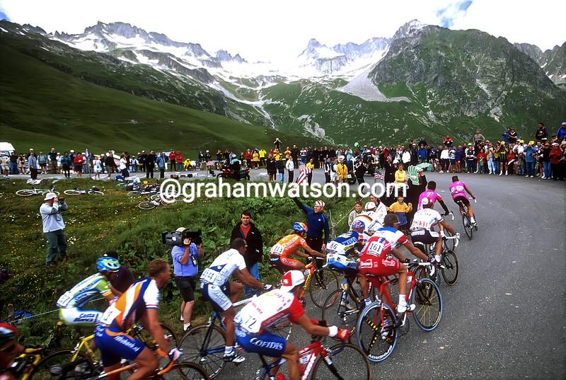 The 2001 Tour de France on the Col de la Madeleine