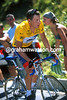 Lance Armstrong climbs the Col d'Izoard in the 2001 Tour de France
