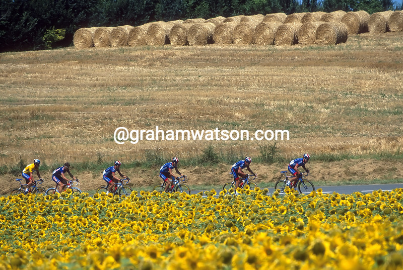 The US Postal team in the 2001 Tour de France