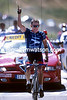 Lance Armstrong wins a stage of the 2001 Tour de France at Pla d'Adet